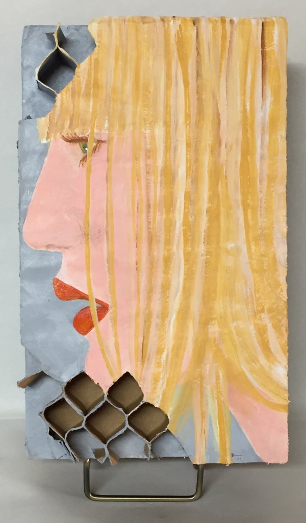 """Blonde"" acrylic painting on paper"